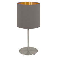 EGLO Pasteri Satin Nickel with Cappuccino and Gold Shade Table Lamp | LV1902.0084