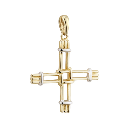 9K ST BRIDGETS CROSS CHARM(BOXED)