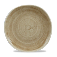 """Stonecast Patina Antique Taupe Round Trace Plate 10 3/8"""" Carton of 12"""