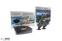 C2Max 4CH 1TB DVR and 2 x Fixed IR Black Bullet Cameras with cable and PSU