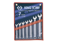 KING TONY Metric Combination Spanner Set 7pce