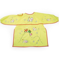 kids apron with cows and a train design