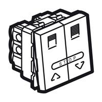 Arteor Double Pole For Shutter 2 Module Square - White  | LV0501.2584