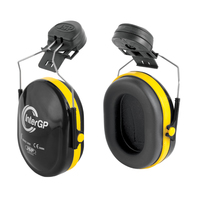 JSP InterGP Helmet Mounted Ear Defender Black/Yellow