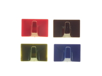 COPEX SELF-ADHESIVE CUP HOOK MEDIUM ASSORTED COLOURS
