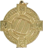 34mm Gaelic Football Medal - Gold
