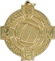 34mm Gaelic Football Medal (Gold)