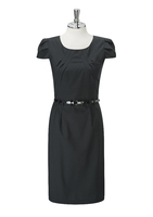 Black Jolie Ladies Round Neck Dress