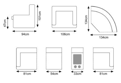marconi dark grey modular sofa 2