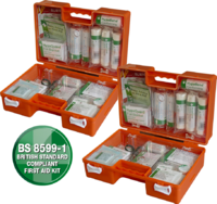 Deluxe Workplace First Aid Kits - Orange Cases