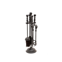 Leecroft Black Turn Handle Companion Set 18""