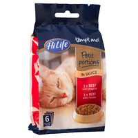 HiLife Mini Pouch Petit Portions - Beef in Sauce 85g 6pk x 4