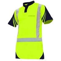Hi Vis Day/Night S/Sleeve Vented Cotton Back Lightweight Polo 145gsm