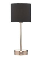 Lerona Touch Table Lamp, Copper Complete with Shade | LV1802.0140