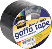 GAFTBLA100 PROSOLVE GAFFA BLACK 100MMX50M