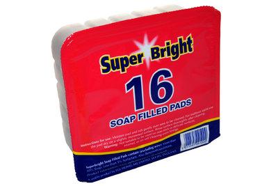 SUPERBRIGHT SOAP FILLED PADS 16 PACK