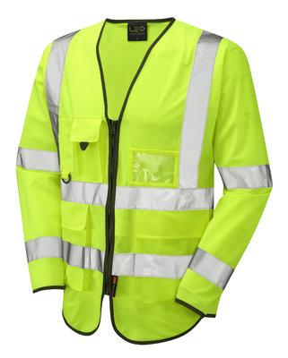 Wrafton Class 3 Sleeved Hi-Vis Waistcoat