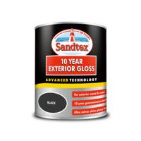 Sandtex 10 Year Gloss Black 750ml