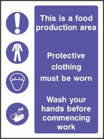 Food Processing and Hygiene Sign FOOD0005-0594