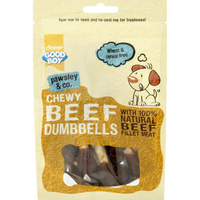 Good Boy Pawsley & Co. Dog Treats - Chewy Beef Dumbbells 100g x 8