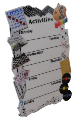 7 Day Communal Activity Plan Board
