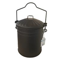 Leecroft Ash Bucket & Lid Black