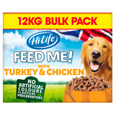 HiLife FEED ME! Complete Moist Menus - Turkey, Chicken & Bacon 12kg