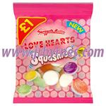 Bags Swizzels Lovehearts Squashies LGE£1 x12