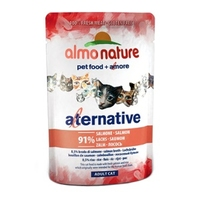 Almo Nature Adult Cat Pouch Alternative Label Salmon 55g x 24