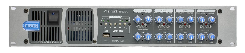 Cloud 46-120 Media   4 Zone Integrated Mixer Amplifier