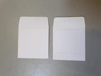 X-RAY ENVELOPES PLAIN WHITE PAPER x500
