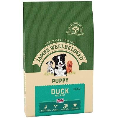 James Wellbeloved Duck & Rice Puppy Food 7.5kg