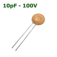10pF - 100V   CERAMIC DISC CAPACITOR