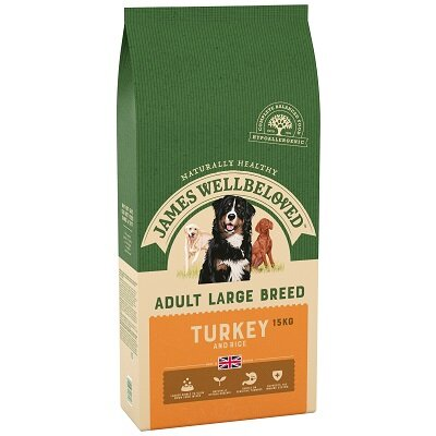 James Wellbeloved Turkey & Rice Large Breed Dog Food 15kg