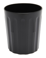 Tumbler Fluted Polycarbonate 8oz Black