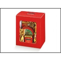 BOX WITH WINDOW 330x250x350MM RED