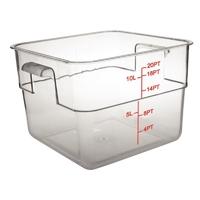 10 Litre Polycarbonate Square Container