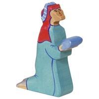 Holztiger Balthasar, 2, blue