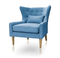 harper teal occasional chair