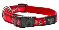 "Rogz Red Rogz Bone Large (Beach Bum) Adjustable Collar 13""-22"" x"