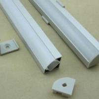 TRIANGULAR ALUMINIUM CHANNEL 18.5X18.5MM 3 METRE CW END CAPS & MOUNTING BRACKETS OPAL DIFFUSER