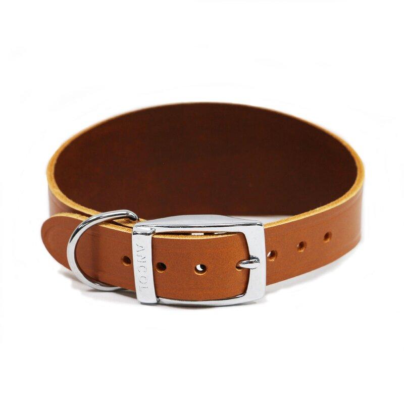 Ancol Tan Leather Greyhound Collar 47cm