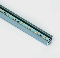 2m Black Recessed Profile for LED Strip | LV1202.0161
