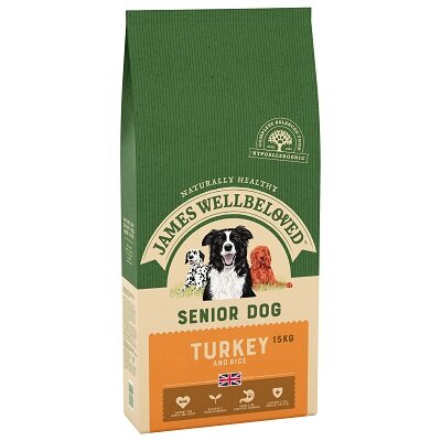 James Wellbeloved Turkey & Rice Senior Dog Food 15kg