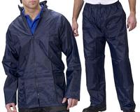 Nylon Waterproof Rainsuit Navy
