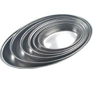 Vegetable Dish Oval Undivided Stainless Steel 350mm Long