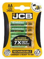 JCB RECHARGEABLE BATTERY AA 2400 MA