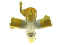 POWERMASTER 16 AMP 110V 2 PIN + EARTH YELLOW 3 WAY SPLITTER