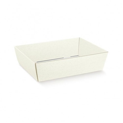 TRAY WHITE BUBBLE 230X170X80MM