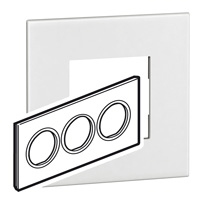 Arteor (British Standard) Plate 6 Module Round White | LV0501.0111